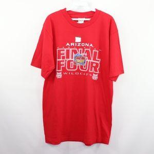 New Mens Large Arizona Wildcats 01 Final 4 T Shirt